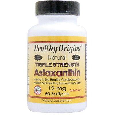 Healthy Origins Astaxanthin Triple Strength, 60 sgels 12 mg