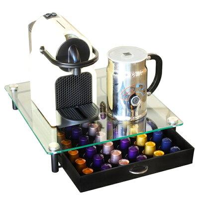 DecoBros Nespresso クリスタルガラス ネスプレッソコーヒー カプセルホルダー ストレージ KT-006-1