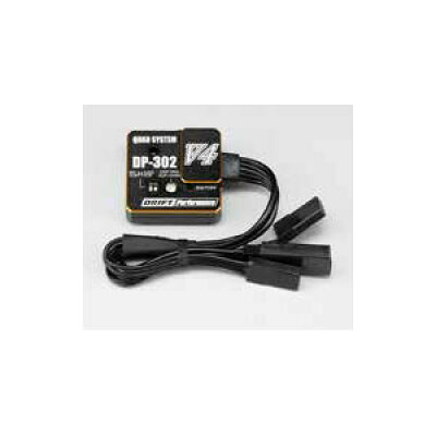 ヨコモ DPP-302V4 EPアジャスト付 ドリフトステアリングジャイロ ブラック ドリフトパフォーマー 2/3ch用