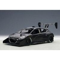1/18 モデルカー オートアート・コンポジットモデル プジョー 208 T16 パイクスピーク 2013年 プレーンボディ ブラック オートアート