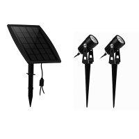 KEYNICE ソーラーLEDライトアウトドア スポットライト太陽光パネル充電 ウォームホワイト