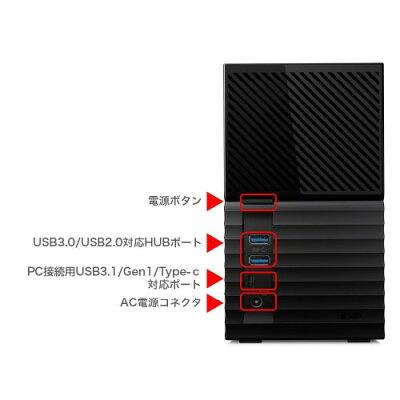 WesternDigital My Book Duo 外付けHDD 6TB WDBFBE0060JBK