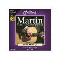 Martin マーチン  マーチン アコースティックギター弦 M-175PK3 カスタムライト パック / マーチン
