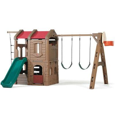 (Step2)ナチュラルプレイフル アドベンチャーロッジ プレイ センター(Naturally Playful Adventure Lodge and Swingset 774600/801300 )