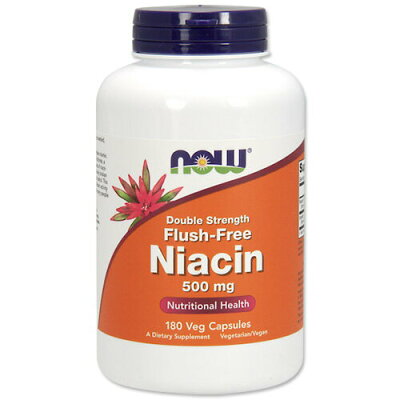 Now Foods Flush-Free Niacin, 180 Vcaps 500mg