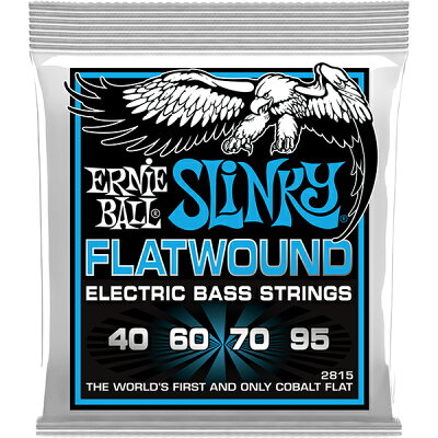 ERNIE BALL SLINKY FLATWOUND 2815 EXTRA フラットワウンド エレキベース弦