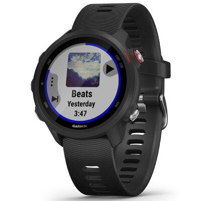 ガーミン GARMIN ForeAthlete 245 Music Black Red 010-02120-70 スマートウォッチモード: 最大7日間 GPS+音楽モード: 最大6時間
