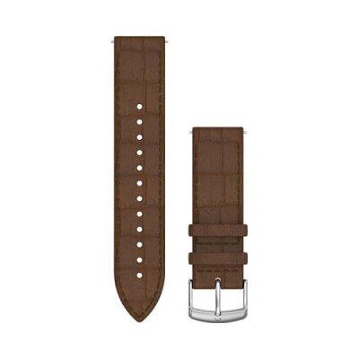 ガーミン GARMIN Quick Release バンド 20mm Dark Brown Embossed Italian Silver Leather 010-12691-1D