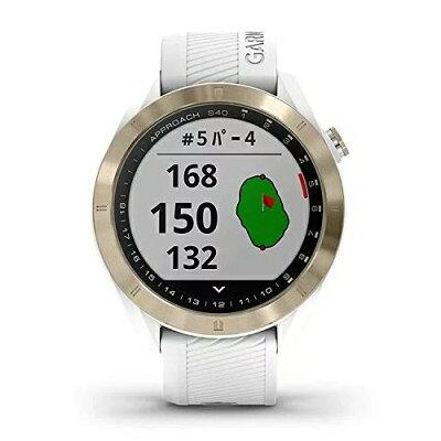 GARMIN GPS ゴルフナビゲーションウォッチ Approach S40 ホワイト 010-02140-22