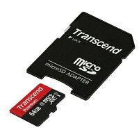 トランセンド・ジャパン 64GB MicroSDXC Class10 U1 アダプタ付き TS64GUSDU1P