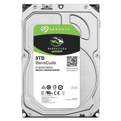 Seagate BarraCuda 3.5インチ内蔵HDD ST8000DM004