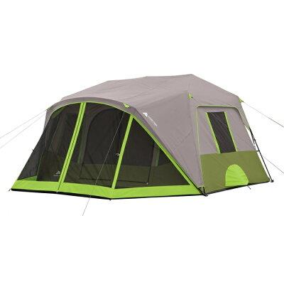 オザークトレイル 9人用 インスタント キャビン テントスクリーンルーム付き Ozark Trail 9 Person 2 Room Instant Cabin Tent with Screen Room