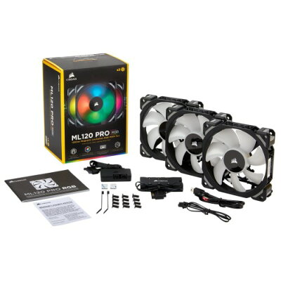 CORSAIR コルセア ML120 PRO RGB 3 Fan Pack with Lighting Node CO-9050076-WW
