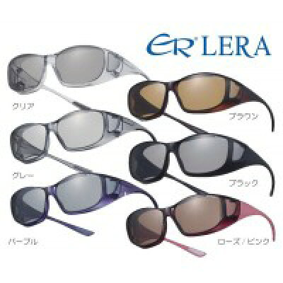 日本製 偏光サングラスER LERA エロイコ レラ オーバーグラス レギュラーサイズ OS-1 ブラウン 4880br