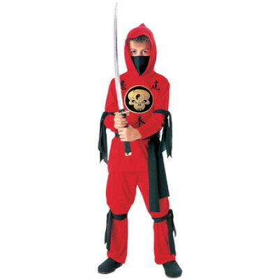 チャイルドレッドニンジャコスチュームl child red ninja costume - l 88