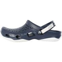 crocs クロックス メンズ サンダル swiftwater deck clog m :ネイビー×ホワイト 203981 462