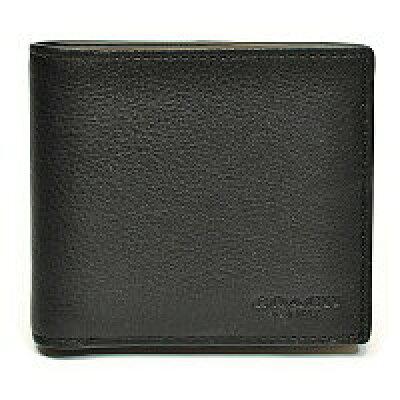 コーチ COACH 財布 二つ折り財布 メンズ レザー ウォレット F75084BLK