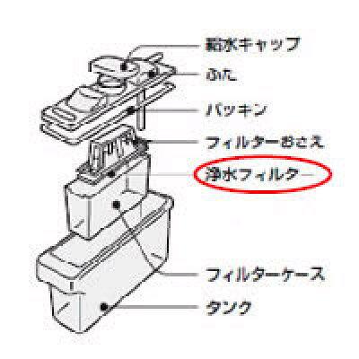 シャープ 冷蔵庫用浄水 フィルター 2013370086