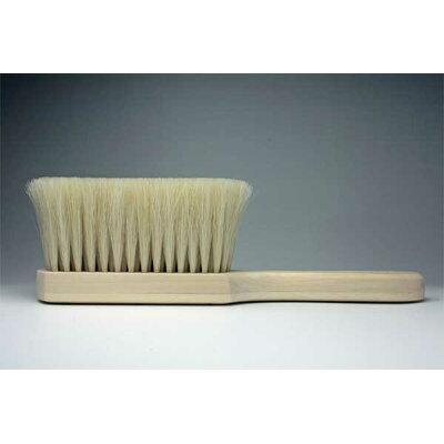 平野刷毛製作所 洋服ブラシ 手植え羽子板型 馬毛 天然木 260ミリ