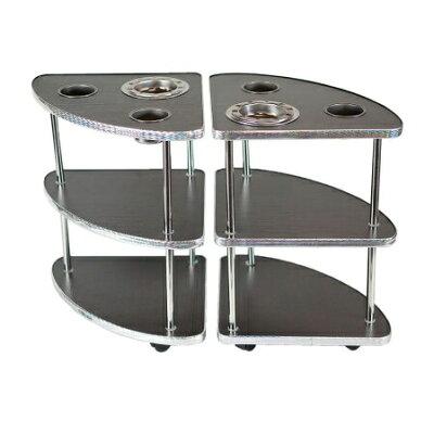 麻雀卓のジャンタクファクトリー 麻雀卓用サイドテーブル 2脚 MJ-REVO