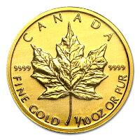 カナダ王室造幣局 メイプル金貨 1/10オンス クリアケース入り ランダム イヤー K24 (99.99%) 純金 24金 3.11g