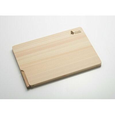 梅沢木材工芸社 自立スタンド付き桧のまな板 32×22