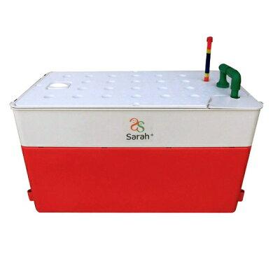 サラプラス 水耕栽培キット 35リットル  奥行: 高さ:  レッド