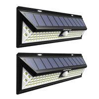 Mpow 102LED ソーラーライト 二個 11.8×31×8.7