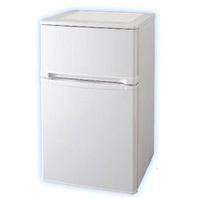 iris ohyama 冷凍冷蔵庫 2ドア 81L AF81-W-P