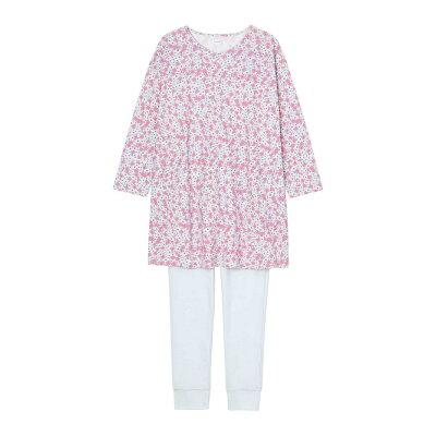 コットンスムース小花柄 パジャマ