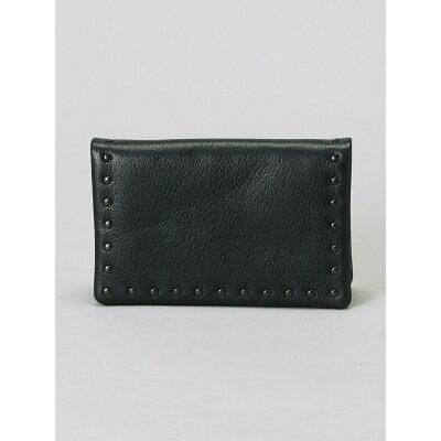 (U)Leather card case 'corner studs' KS