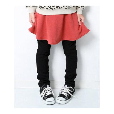 子供服 キッズ 裏シャギースカッツ 裏起毛 女の子 ベビー スカート ボトムス 長ズボン 韓国子供服